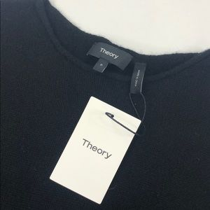 THEORY Black Tolleree Cashmere Sweater
